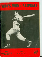 1942 Who's Who in Baseball Joe DiMaggio Good to Very Good [Heavy crease on cover, minor scuffing; contents very clean, stain on back cover]