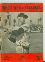 1943 Who's Who in Baseball Ted Williams Very Good [Heavy wear along binding, stray pencil mark on cover, contents fine]