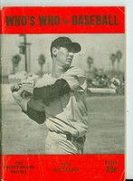 1943 Who's Who in Baseball Ted Williams Very Good to Excellent [Wear and creasing on cover, contents very clean]
