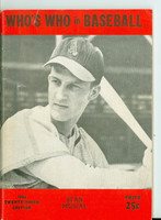 1944 Who's Who in Baseball Stan Musial Very Good to Excellent [Vertical creasing, wear on cover w/stray pencil mark; contents clean]