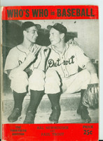 1945 Who's Who in Baseball Hal Newhouser, Dizzy Trout Very Good [Heavy curl along binding, contents fine]
