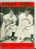 1948 Who's Who in Baseball Ralph Kiner, Johnny Mize Very Good [Heavy crease on cover, contents clean]