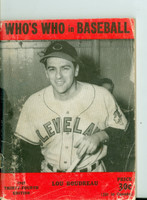 1949 Who's Who in Baseball Lou Boudreau Very Good [Heavy wear and creasing on cover; contents clean]