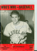 1949 Who's Who in Baseball Lou Boudreau Very Good to Excellent [Wear, creases on cover; contents very clean]