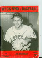 1949 Who's Who in Baseball Lou Boudreau Excellent [Lt wear and creasing on cover; contents clean]