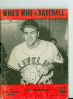 1949 Who's Who in Baseball Lou Boudreau Very Good [Wear along the binding, scuffing and creasing on cover; contents fine]