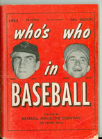 1953 Who's Who in Baseball Hank Sauer, Bobby Shantz Very Good to Excellent [Wear, creases on cover; contents very clean]
