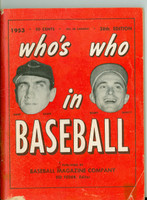 1953 Who's Who in Baseball Hank Sauer, Bobby Shantz Very Good [Minor tape residue on cover, minor paper loss, contents clean]