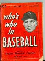 1954 Who's Who in Baseball Al Rosen (Back Cover: Roy Campanella photo) Very Good to Excellent [Small tear on cover corner; ow very clean]
