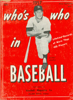 1957 Who's Who in Baseball Mickey Mantle (Back Cover: Don Newcombe photo) Very Good [# WRT in pencil on cover, sm paper tear along edge; surface wear, contents fine]