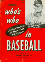 1960 Who's Who in Baseball Don Drysdale (Back Cover: Nellie Fox photo) Very Good to Excellent [Stray writing on cover, contents fine]