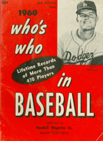 1960 Who's Who in Baseball Don Drysdale (Back Cover: Nellie Fox photo) Excellent [Lt wear and creasing on covers, contents fine]