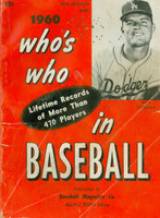1960 Who's Who in Baseball Don Drysdale (Back Cover: Nellie Fox photo) Good to Very Good [Heavy markings, creasing on cover, contents fine]