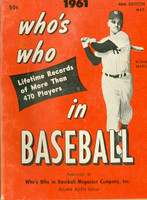 1961 Who's Who in Baseball Roger Maris Excellent to Mint [Scuffing and lt discoloration on cover; contents fine]