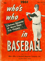 1961 Who's Who in Baseball Roger Maris Very Good to Excellent [Wear and discoloration on cover, contents fine]