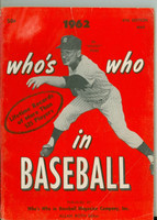 1962 Who's Who in Baseball Whitey Ford (Back Cover: Roberto Clemente photo) Very Good to Excellent [Lt wear and creasing on covers, contents fine]