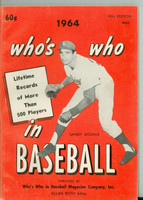 1964 Who's Who in Baseball Sandy Koufax Excellent [lt wear on cover, ow clean]