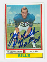 Joe DeLamielleure AUTOGRAPH 1974 Topps Football #183 Bills HOF '03 ROOKIE CARD 
