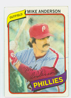Mike Anderson AUTOGRAPH 1980 Topps Phillies   [SKU:AndeM2444_T80BBi2]