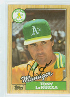 Tony LaRussa AUTOGRAPH 1987 Topps #68 Athletics 