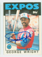 George Wright AUTOGRAPH 1986 Topps Traded #128 T Expos   [SKU:WrigG9248_T86BBTR]