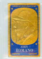 Johnny Romano AUTOGRAPH d.19 1965 Topps EMBOSSED #10 Indians 