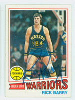 Rick Barry AUTOGRAPH 1977 Topps Basketball Warriors 