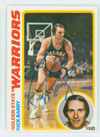 Rick Barry AUTOGRAPH 1978 Topps Basketball Warriors 