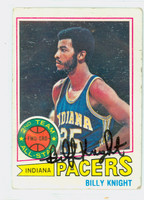 Billy Knight AUTOGRAPH 1977 Topps Basketball 