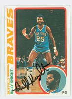 Billy Knight AUTOGRAPH 1978 Topps Basketball 