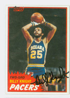 Billy Knight AUTOGRAPH 1981 Topps Basketball 