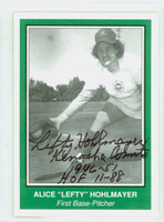 Alice 'Lefty' Hohlmayer AUTOGRAPH d.17 AAGBL 1940s-50s Woman's Baseball League 