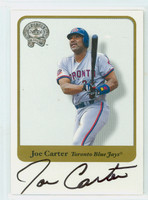 Joe Carter AUTOGRAPH 2001 Fleer Greats of the Game Blue Jays CERTIFIED 