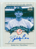 Bobby Cox AUTOGRAPH 2003 Pride of the Yankees Yankees CERTIFIED 
