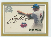 Tony Oliva AUTOGRAPH 2000 Fleer Greats of the Game Twins CERTIFIED 