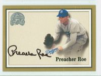 Preacher Roe AUTOGRAPH d.08 2000 Fleer Greats of the Game Dodgers CERTIFIED 