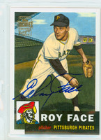 Roy Face AUTOGRAPH 2001 Topps Archives Autographs Pirates CERTIFIED 