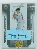 Jason Bartlett AUTOGRAPH Leaf 2004 Certified Materials Twins CERTIFIED 