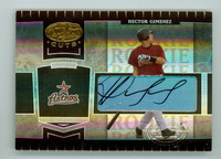 Hector Gimenez AUTOGRAPH Leaf 2004 certified Cuts Astros CERTIFIED 