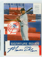 Marcus Thames AUTOGRAPH 2002 Topps Signature Moves /91 Yankees CERTIFIED 