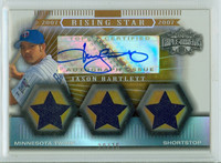 Jason Bartlett AUTOGRAPH 2007 Topps Throwback Threads Twins CERTIFIED 
