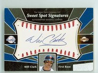 Will Clark AUTOGRAPH 2004 Upper Deck Sweet Spot Signatures Autographed Baseball Leather Giants CERTIFIED 