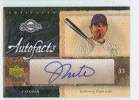 Johnny Estrada AUTOGRAPH 2007 Upper Deck AUTOFACTS Brewers CERTIFIED 