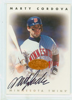 Marty Cordova AUTOGRAPH Leaf 1996 Signature Series Twins CERTIFIED 