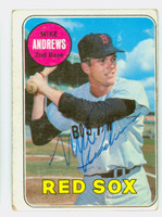 Mike Andrews AUTOGRAPH 1969 Topps #52 Red Sox CARD IS F/G