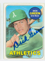 Dick Green AUTOGRAPH 1969 Topps #515 Athletics CARD IS CLEAN EX  [SKU:GreeD1512_T69BBK]