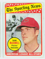 Sam McDowell AS AUTOGRAPH 1969 Topps All Star #435 Indians CARD IS CLEAN EX  [SKU:McDoS1705_T69BBASK]