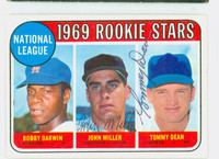 Tommy Dean - John Miller DUAL SIGNED 1969 Topps #641 NL Rookies CARD IS SHARP EX/MT