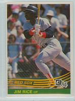 1984 Donruss Baseball 50 Jim Rice Boston Red Sox Near-Mint Plus