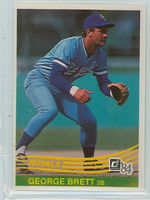 1984 Donruss Baseball 53 George Brett Kansas City Royals Near-Mint Plus